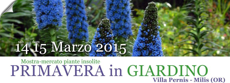 Primavera in Giardino 2015 a Milis - 14 e 15 Marzo