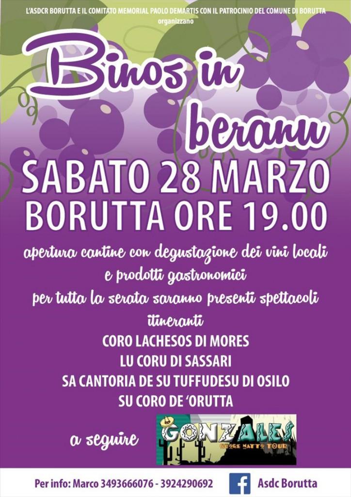 Binos in beranu a Borutta - Sabato 28 Marzo 2015