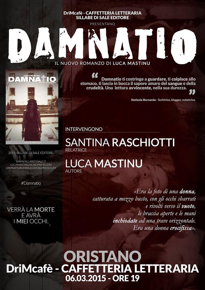 """Luca Mastinu presenta il suo romanzo """"Damnatio"""" al DriMcafè di Oristano"""