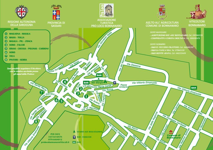 4^a edizione Binos de Fozzas a Bonnanaro - Mappa