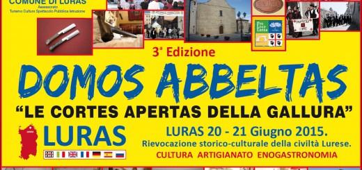 Domos Abbeltas a Luras - Sabato 20 e Domenica 21 Giugno 2015