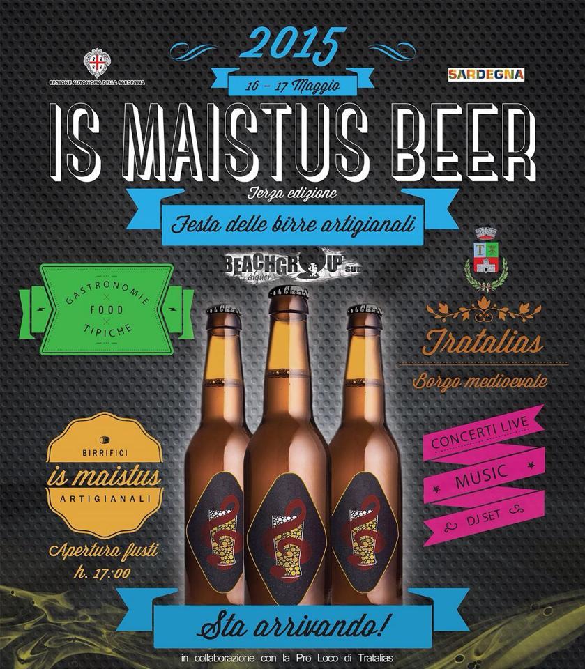 """3^a edizione """"Is Maistus Beer"""", il festival delle birre artigianali. A Tratalias il 16 e 17 Maggio 2015"""