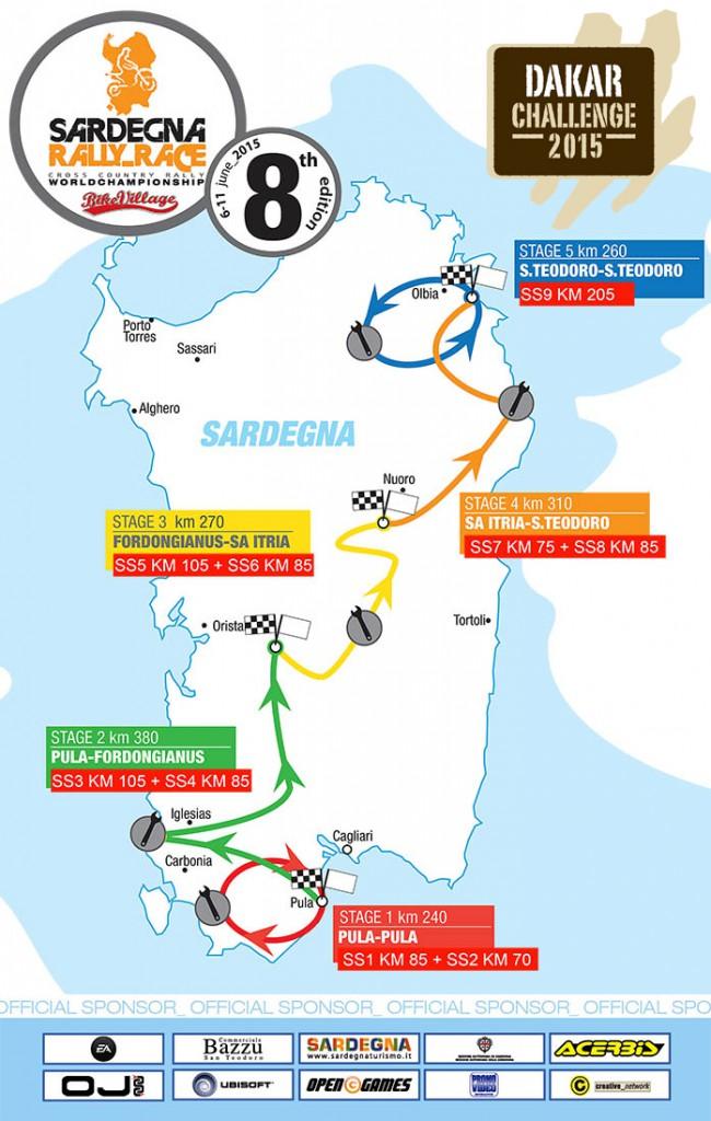 La mappa del Sardegna Rally Race 2015