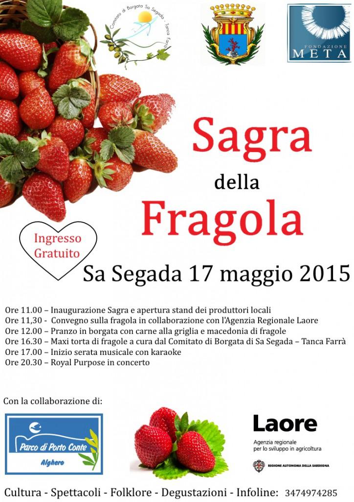 1^a edizione Sagra della Fragola a Sa Segada - Domenica 17 Maggio 2015