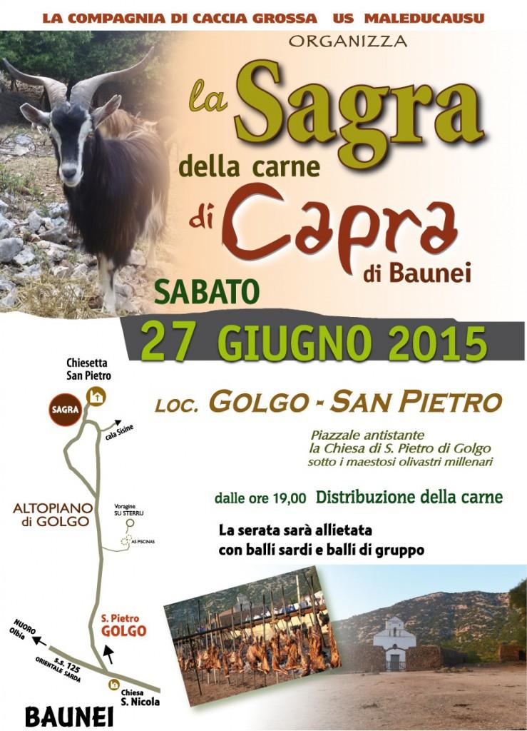 Sagra della Carne di Capra a Baunei - Sabato 27 Giugno 2015