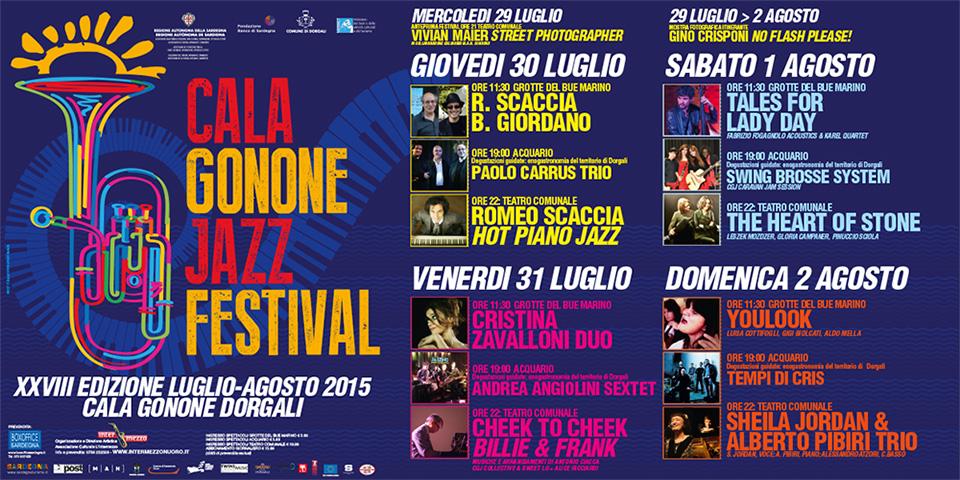 Cala Gonone Jazz Festival 2015 - Dal 29 Luglio al 2 Agosto