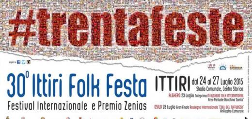 Ittiri Folk Festa 2015 , la manifestazione compie 30 anni - Dal 24 al 27 Luglio 2015