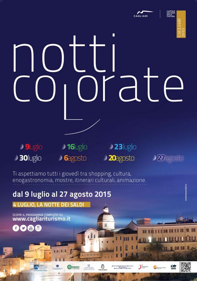 Notti Colorate 2015 a Cagliari - Notte Azzurra: Giovedì 23 Luglio 2015