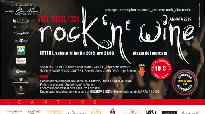 Rock 'n Wine 2015 a Ittiri - Sabato 11 Luglio 2015