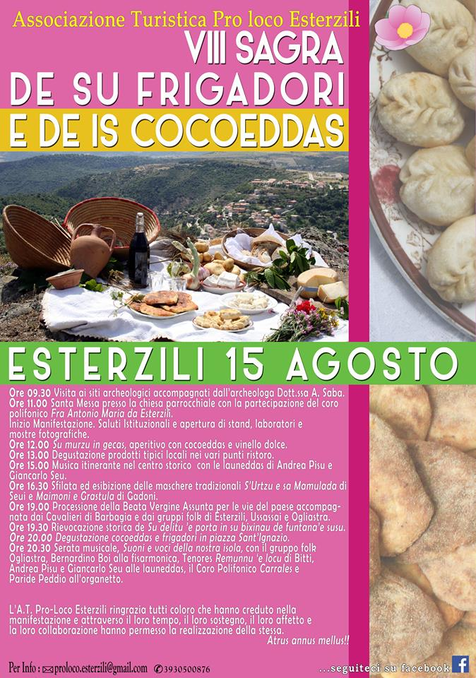 VIII Sagra de su frigadori e de is cocoeddas – A Esterzili il 15 Agosto 2015