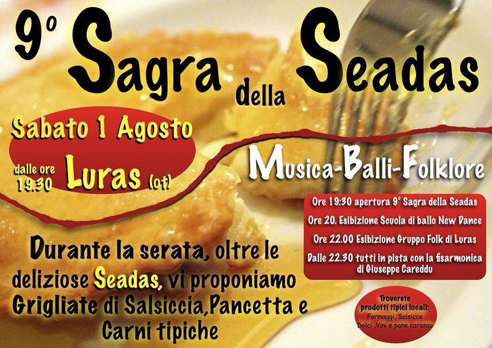 9^a Sagra delle Seadas a Luras - Sabato 1 Agosto 2015