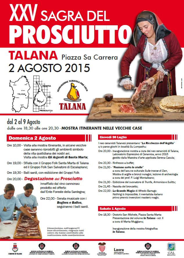 XXV Sagra del Prosciutto a Talana - Domenica 2 Agosto 2015