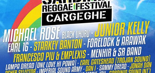 Sardinia Reggae Festival 2015 a Cargeghe - Dal 29 Luglio al 2 Agosto