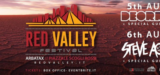 Red Valley Festival -Ad Arbatax il 5 e 6 Agosto 2015