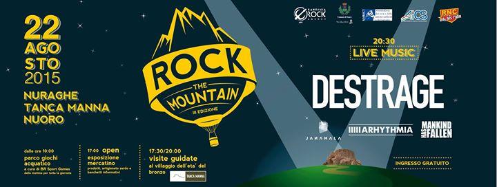 """Terza Edizione """"Festival Rock The Mountain"""" - A Nuoro il 22 Agosto 2015"""