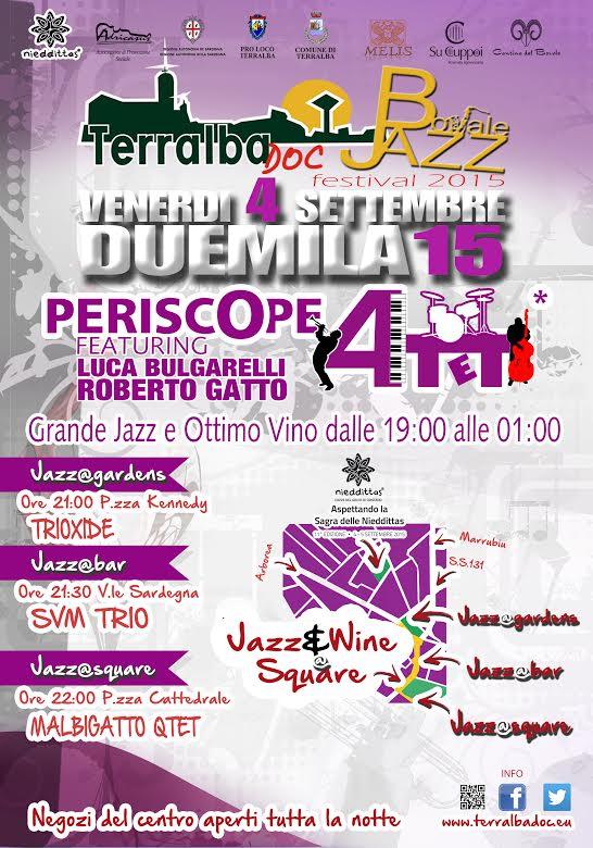 Terralba Doc Bovale Jazz Festival - Venerdì 4 Settembre 2015