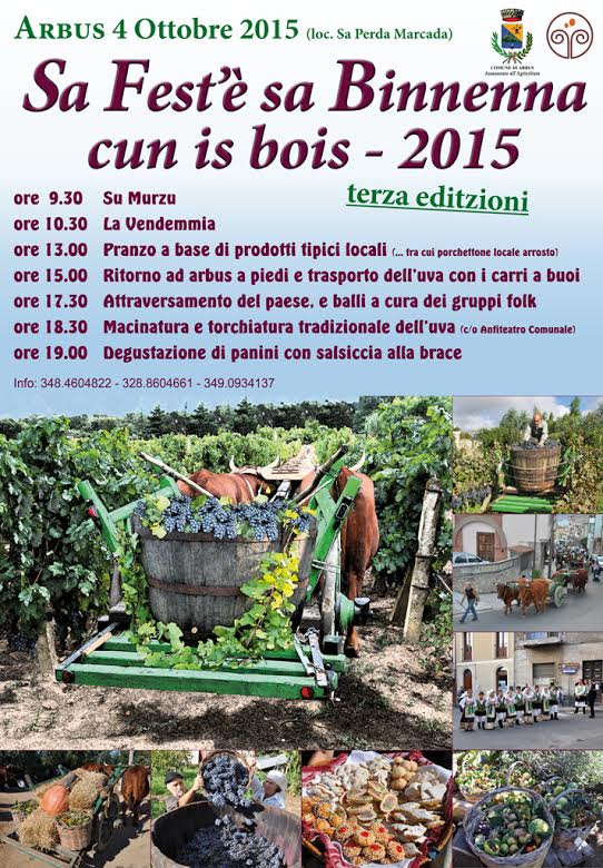 """""""Sa Fest'è sa Binnenna cun is bois"""" - Ad Arbus il 4 Ottobre 2015"""
