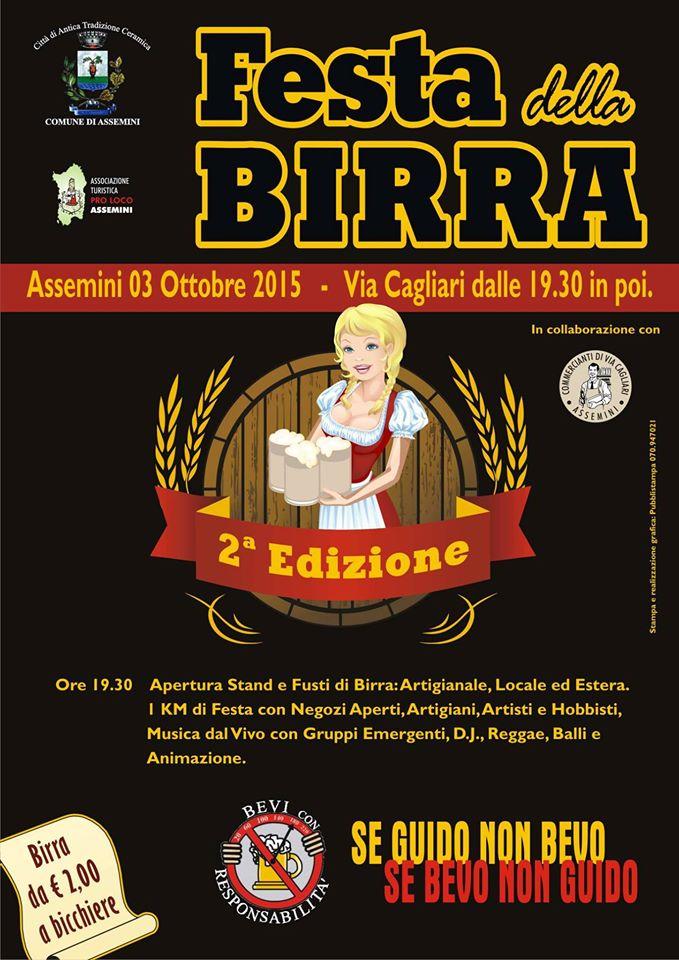 2^a edizione della Festa della Birra ad Assemini - Sabato 3 Ottobre 2015
