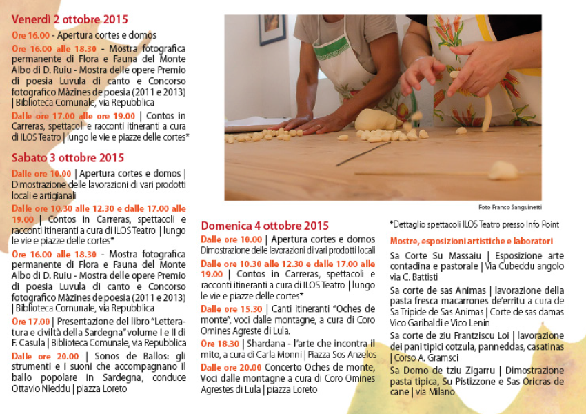 Autunno in Barbagia 2015 a Lula