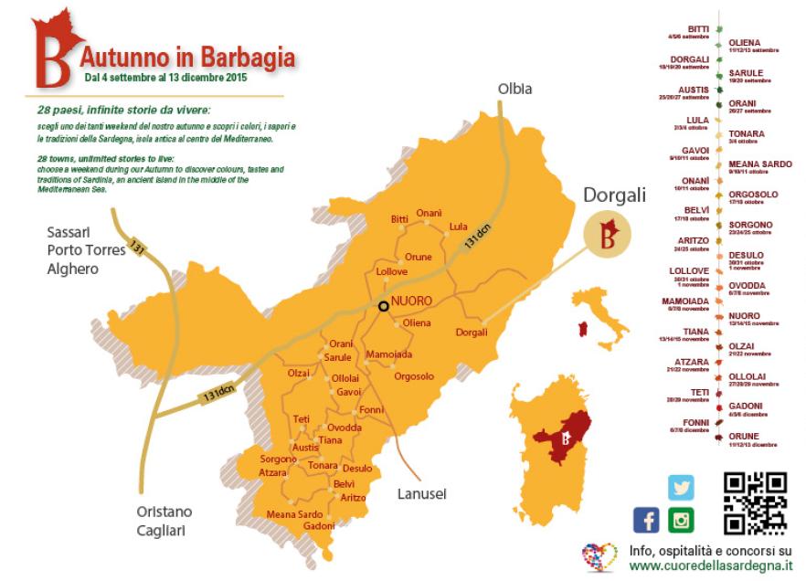 Autunno in Barbagia 2015 a Dorgali – Mappa