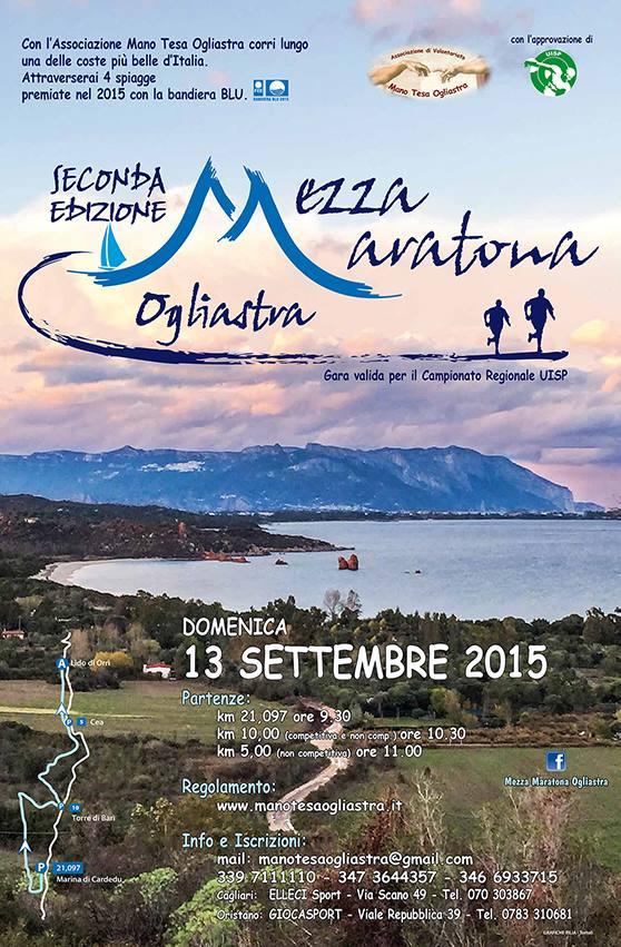 """Seconda Edizione della """"Mezza Maratona Ogliastra"""" - Domenica 13 Settembre 2015"""