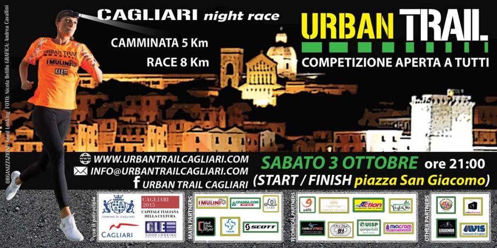 3° Urban Trail a Cagliari - Sabato 3 Ottobre 2015