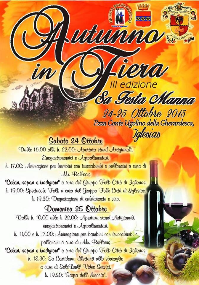 3^a edizione Autunno in Fiera ad Iglesias - Sabato 24 e Domenica 25 Ottobre 2015