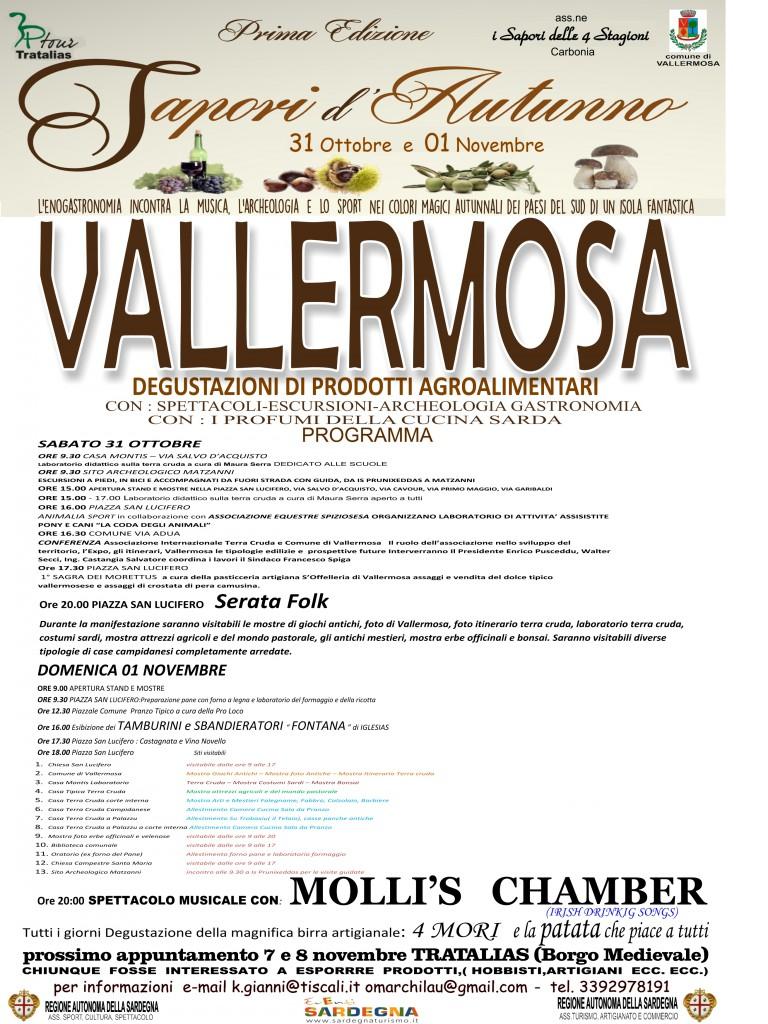 Sapori d'Autunno 2015 a Vallermosa - Sabato 31 Ottobre e Domenica 1 Novembre