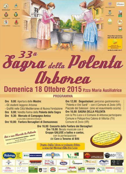 33^a Sagra della Polenta di Arborea - Domenica 18 Ottobre 2015
