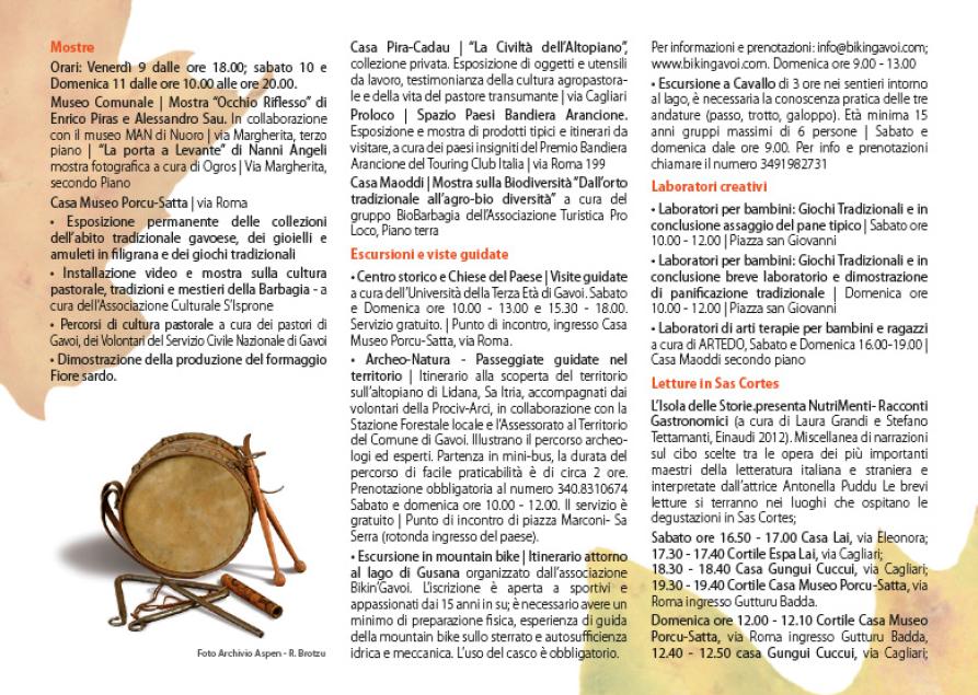 Autunno in Barbagia 2015 a Gavoi – Programma