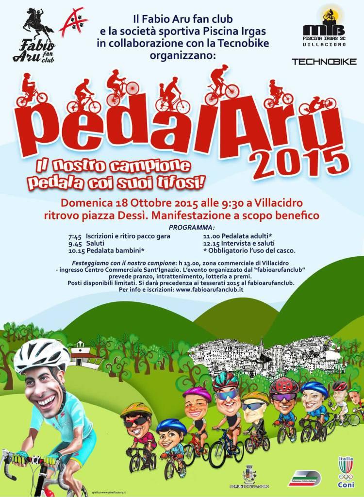PedalAru 2015, Fabio Aru pedala con i suoi tifosi - A Villacidro il 18 Ottobre 2015