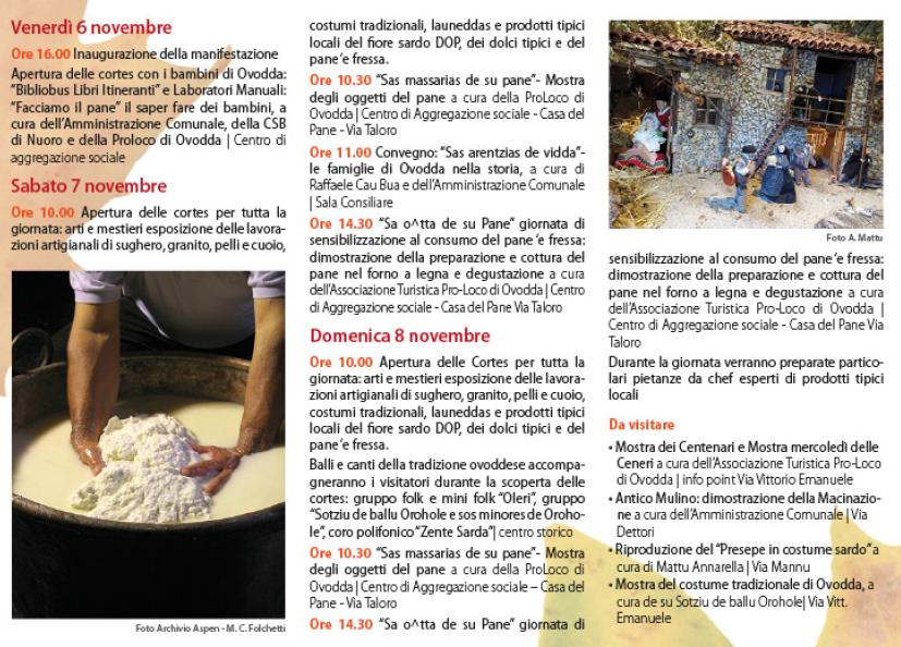 Autunno in Barbagia 2015 a Ovodda – Da Venerdì 6 a Domenica 8 Novembre 2015
