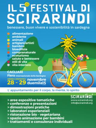 5^a edizione Festival di Scirarindi - A Cagliari dal 28 al 29 Novembre 2015