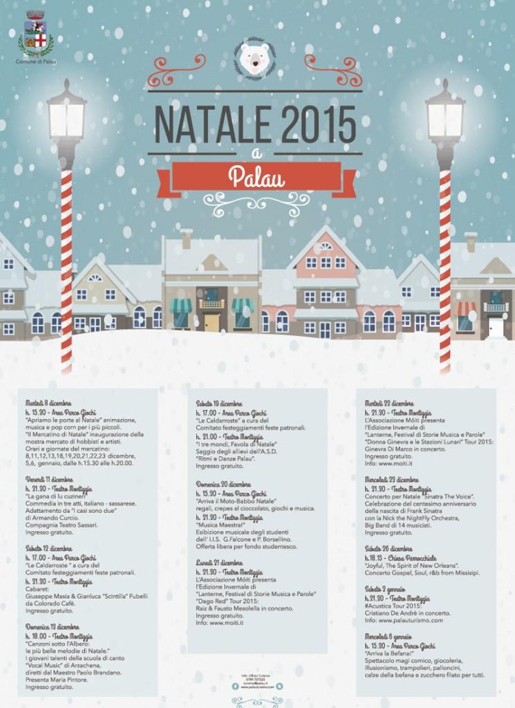 Natale 2015 a Palau - Il programma degli eventi