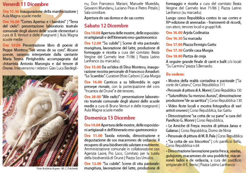 Autunno in Barbagia 2015 ad Orune