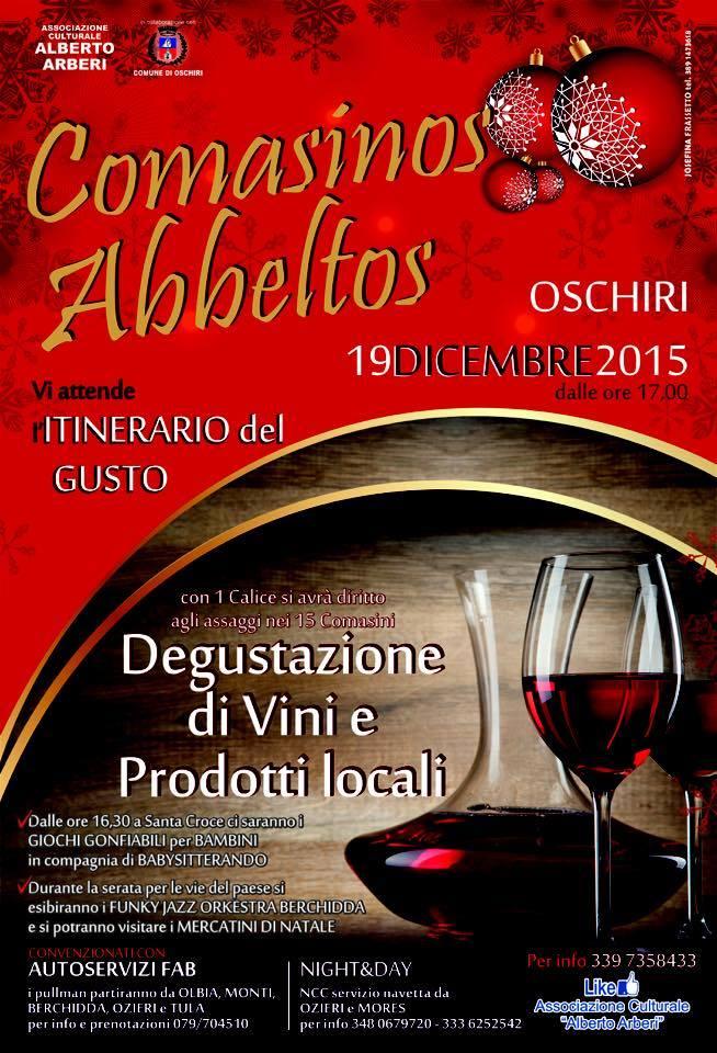 3^a edizione Comasinos Abbeltos a Oschiri - Sabato 19 Dicembre 2015