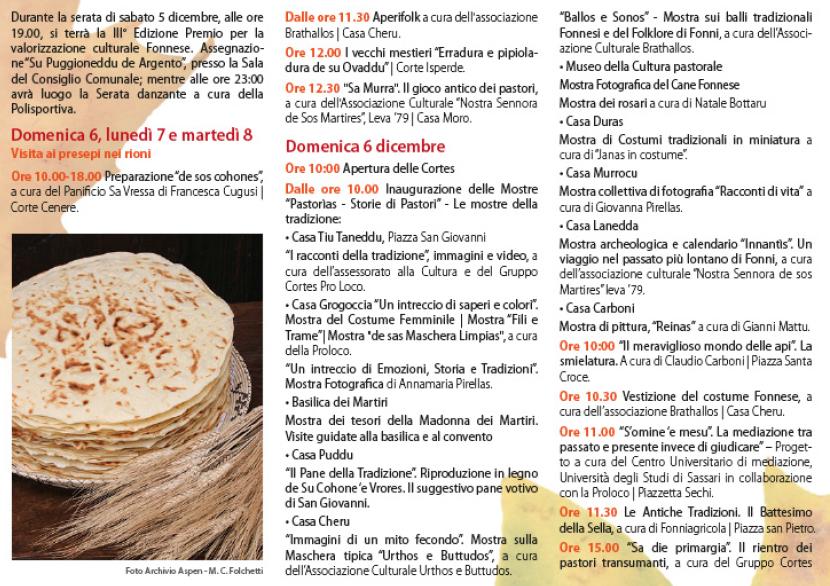Autunno in Barbagia 2015 a Fonni – Programma