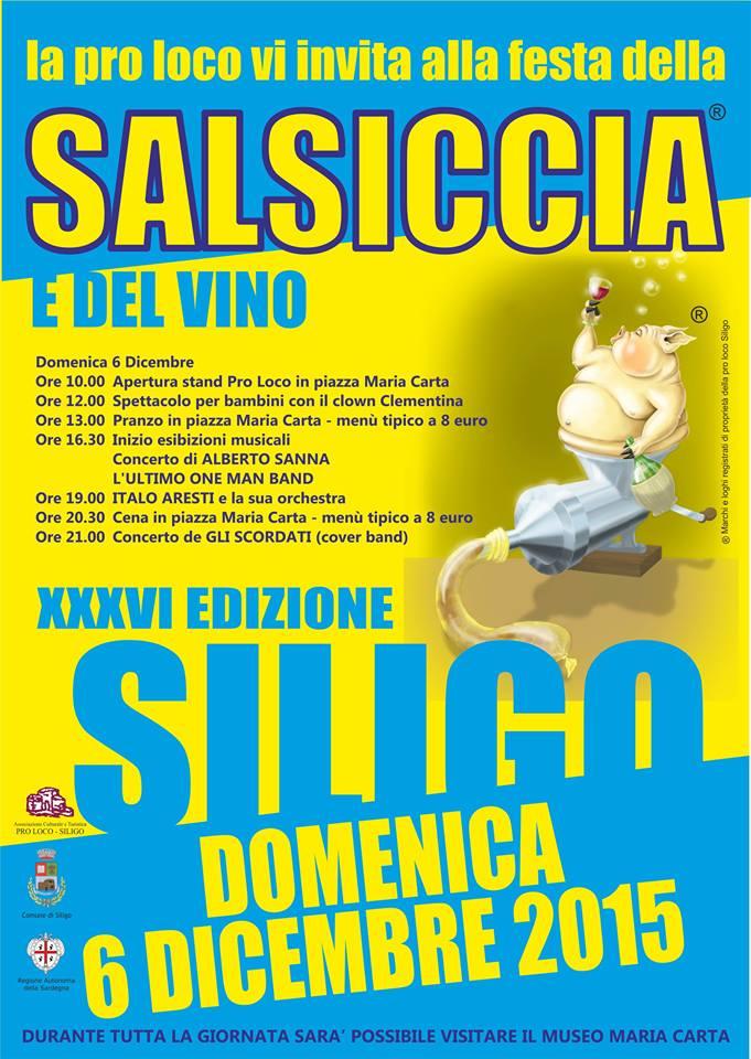 Sagra della salsiccia e del vino a Siligo - Domenica 6 Dicembre 2015