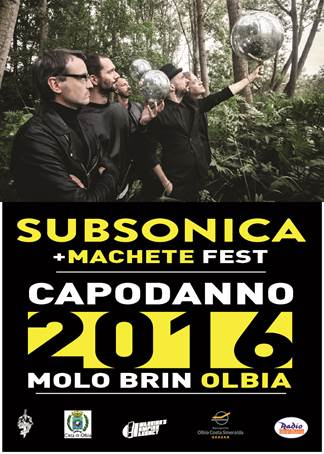 Subsonica e Machete Crew ad Olbia per il Capodanno 2016