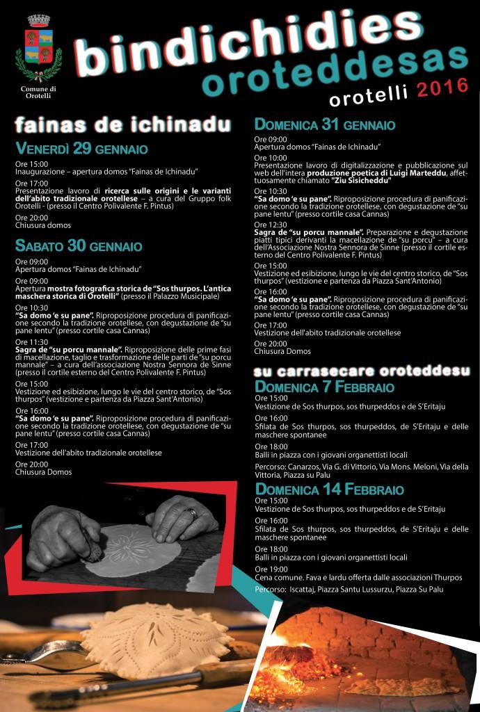 "Fainas de Ichinadu, ""I mestieri del Rione"" - Ad Orotelli dal 29 al 31 Gennaio 2016"
