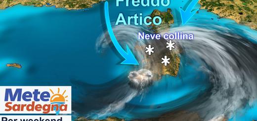 Neve in Sardegna nel weekend (foto Meteo Sardegna)
