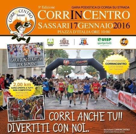 Corrincentro 2016 - A Sassari Domenica 17 Gennaio