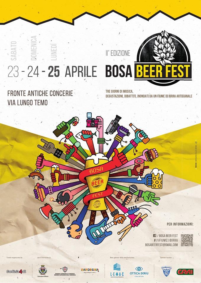 Bosa Beer Fest 2016 - A Bosa dal 23 al 25 Aprile 2016