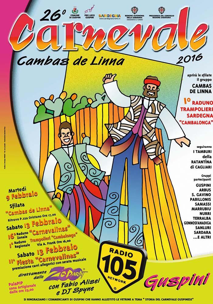 26^ Cambas de Linna, il carnevale tradizionale guspinese - Dal 9 al 13 Febbraio 2016 a Guspini