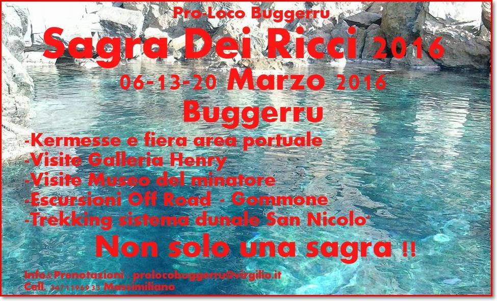 3^ edizione della Sagra dei Ricci a Buggerru - Il 6, 13 e 20 Marzo 2016