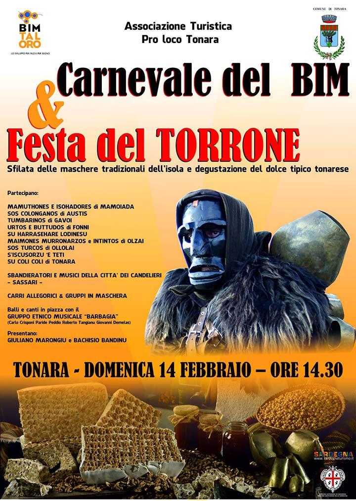Carnevale Tonara e Festa del Torrone - Domenica 14 Febbraio 2016
