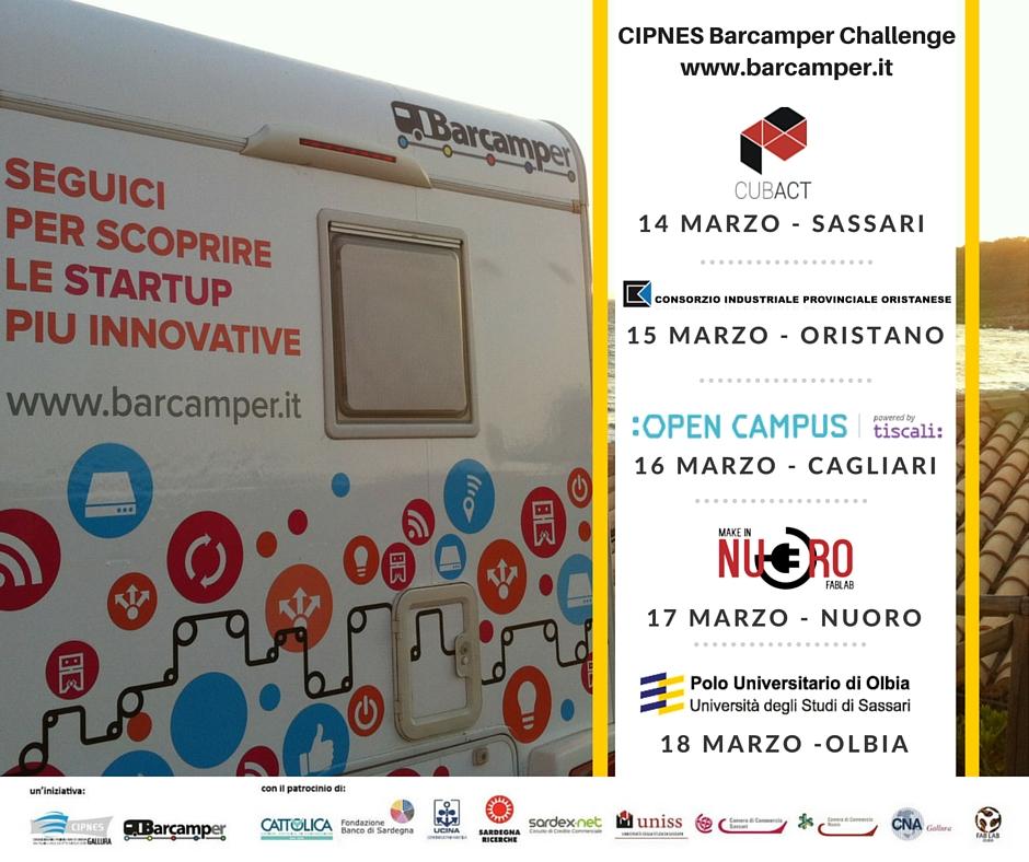 Cipnes Barcamper Challenge - A Nuoro il 17 Marzo 2016