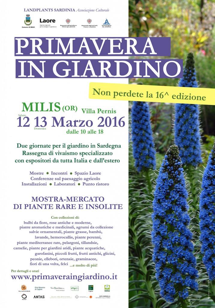 16^ edizione Primavera in Giardino a Milis - 12 e 13 Marzo 2016