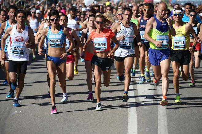 Gli atleti in gara alla Chia Laguna Half Marathon 2015