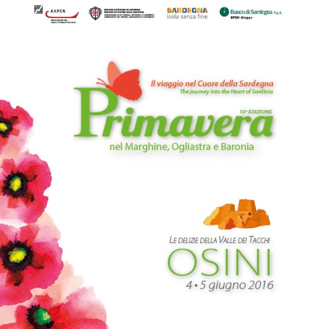 Primavera nel Marghine, Ogliastra e Baronia – A Osini il 4 e 5 Giugno 2016